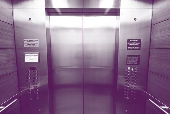 Voorrang in de lift voor mensen met een beperking!